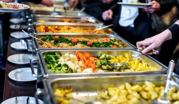 Self serve buffet food